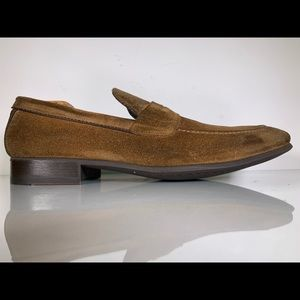 To Boot New York Corbin Medium Brown Suede Loafers